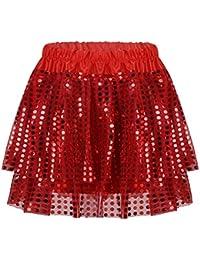 e1b78164ffa63 IEFIEL Tutu Princesse Fille Ballet Danse en Satin Paillettes Tutu Mode Jupe  Bébé Enfant Princesse Pois Sequins Tulle…
