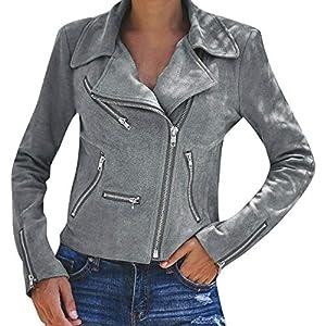 Damen Mode Kurze Jacke Niet Motorradjacke Reißverschluss Bikerjacke Steppmantel Sport Strickjacke Mantel Langarm Streetwear Outwear Skin Suits Frühlingsjacke