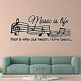 Adesivi Murali Stile europeo musica decorazione della casa accessori asilo camera dei bambini decorazione della parete murale poster muursticker 28 * 66 cm
