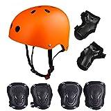 Skateboard / Skate Protection Set with Helmet--SymbolLife Helmet with 6pcs Elbow Knee Wrist Pads for Kids BMX/ Skateboard / Scooter und anderen Extreme Sports BMX, Bike, L / M / S