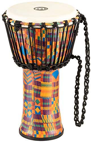 Meinl Percussion PADJ2-S-G Djembe mit Ziegenfell Travel Series, Rope Tuned, 20,32 cm (8 Zoll) Durchmesser (Small), kenyan quilt -