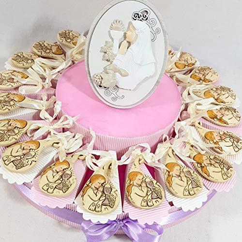 Sindy bomboniere torta bomboniera prima comunione statuette in offerta (torta da 20 gocce con bimba + centrale)