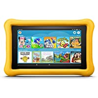 """Fire 7 Kids Edition Tablet, 7"""" Display, 16 GB, Yellow Kid-Proof Case"""