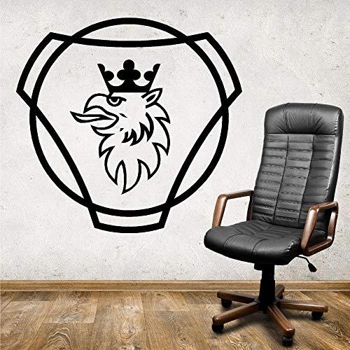 guijiumai Vinyl Aufkleber Scania Logo HGV LKW Vinyl Wandaufkleber Removable Home Decor Schlafzimmer Wandbild Kunst DIY Wandaufkleber schwarz 85X81 cm