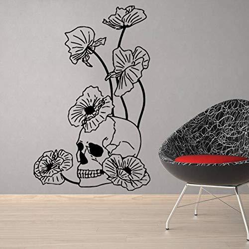 Halloween Schädel In Lotusblatt Wandaufkleber Halloween Party Dekorationen Für Hintergrund Von Home School Office Und 40 * 95 cm