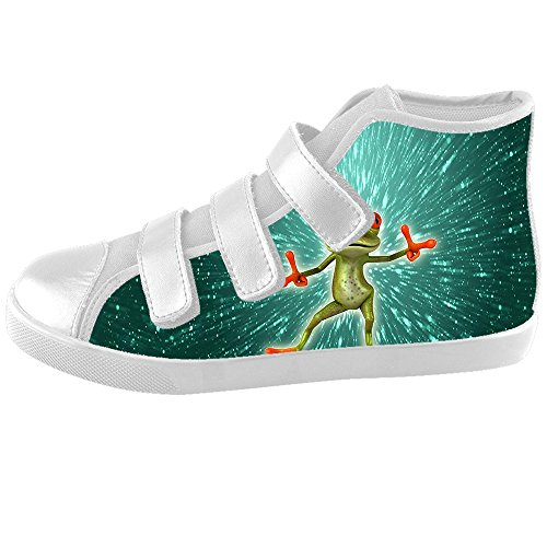 Custom divertente rana bambini Canvas Shoes Scarpe Footwear Sneakers Shoes Scarpe d