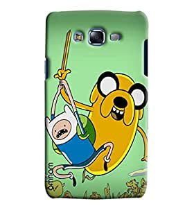 Blue Throat Puppy Cartoon Printed Designer Back Cover/ Case For Samsung Galaxy J7