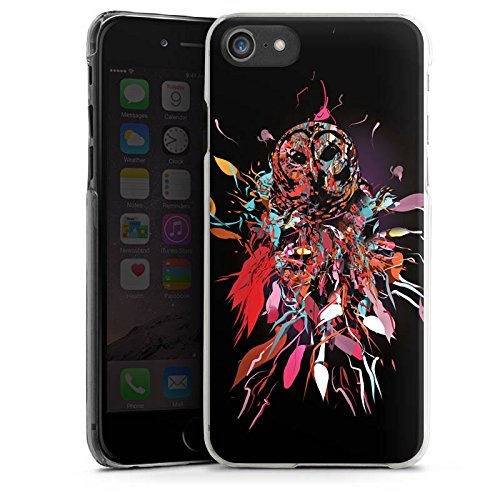 Apple iPhone X Silikon Hülle Case Schutzhülle Eule Kunst Owl Hard Case transparent