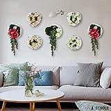 Kreative Simulation Rosen Gartenpflanzen Wandverzierung Wandgestaltung Startseite Wohnzimmer Laden Wanddekoration (Stil Optional) ( farbe : 2 )