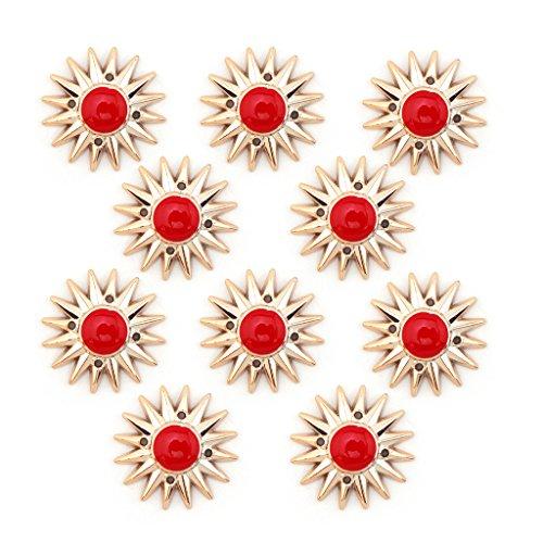No.4 oro e rosso colori Sun Forma pezzi speciali - abbellimenti per abbigliamento, gioielli, pendenti - Confezione da 10