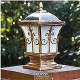 Kunst-Lampen Retrohängelampe Deckenleuchte Mehrere Größen Spalte Scheinwerfer Vintage Antik Tor Licht Hof Led Außen Säulenlicht Villa Europäischen Klassischen Säulenlicht