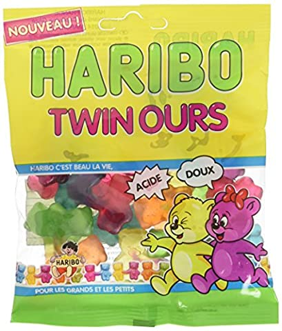 Haribo Twin Ours 100 g - Lot de 2