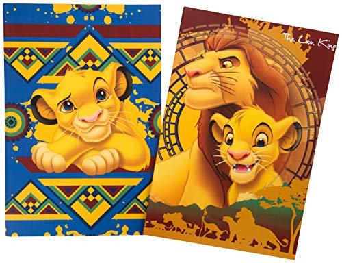 Disney Lion King Two A5 Notizbuch, Schreibblock, Arbeitsbuch für Kinder mit Simba (Lion Papier)