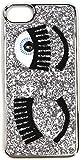 CHIARA FERRAGNI Cover iPhone 6/6s/7/7s Morbida con Glitter Argento/Silver