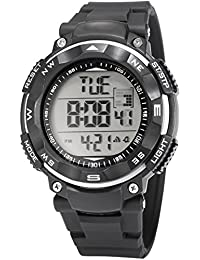 AMPM24 PHN032 - Reloj para hombres, correa de silicona color negro