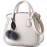 Damen PU Leder Handtaschen für Frauen Schultertasche mit Strap für Mädchen