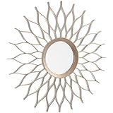 Dcasa - Espejo de pared cobre champagne 50 cm .