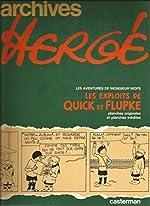 Archives Hergé, Tome 2 - Cet aimable M. Mops. (suivi de) Les Exploits de Quick et Flupke : Planches originales et planches inédites de Hergé