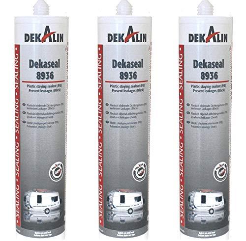 Preisvergleich Produktbild Freizeit Wittke Dekalin Dekaseal Dichtmasse 8936-310ml - Dunkelgrau - 3er Set (32, 20 € pro Liter)