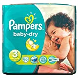 Pampers Baby Dry Taille 3 Midi 4-9kg (30) - Paquet de 6