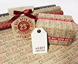 East of India Kraft Paper Christmas Wrap-3m (Kraft - Do Not Open Paper Roll)