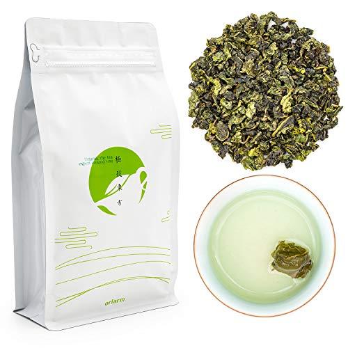 Oriarm 250g / 8.82oz Chinese Tie Guan Yin Oolong Tea Loose Leaf - Anxi Tieguanyin Fujian Tikuanyin Wulong Green Tea Leaves - Iron Goddess of Mercy - Naturally High Mountain Grown