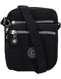 76c3031b02c63 ekavale Mini alltags Damen-Handtasche Umhängetasche aus hochwertigem  wasserabwesendem Crinkle Nylon