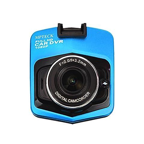 MPTECK @ LCD Caméra Vidéo Enregistreur Boîte Noire Full HD 1080P Voiture DVR avec capteur-G , Grand-angle , Parking moniteur , détection de mouvement , enregistrement en boucle , vision nocturne