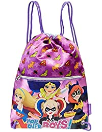 Karactermania Dc Super Hero Girls Move Bolsa de Cuerdas Para El Gimnasio, 35 cm, Morado