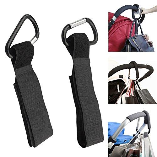 Broadroot 4x Aluminium Mummy Buggy Clip Kinderwagen Haken Einkauf Tasche Clip