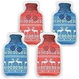 com-four® Taschenwärmer Wärmflasche, Handwärmer in Verschiedenen Designs-...
