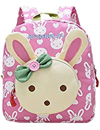 3a37da40fd42 Moolecole Cute Bunny Kids Nursery Canvas Backpack Toddler Boys Girls  Preschool Bookbag School Bag