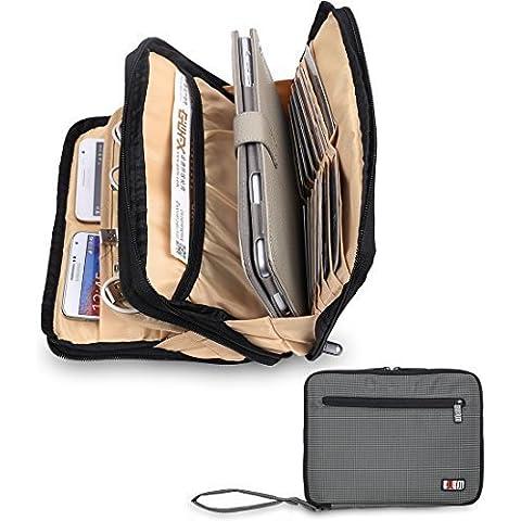 Doble capa acolchada caso del recorrido electrónico Cubos de embalaje para el iPad Mini (Gris)