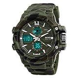 Student-Watch,Junge Kind Wasserdichte Armbanduhr Jugend Multi-funktions Sport Elektronische Uhr-H