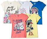 #8: Cherokee Girls' Plain Regular Fit T-Shirt (Pack of 5)