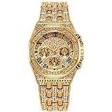 Orologio diamanti simulati iced out luxury in stile di lusso con cinturino in metallo Clubbing per orologio rapper hip hop gh