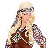 Conjunto de collar y pendientes hippies cadena símbolo de paz aros plata joyería carnaval