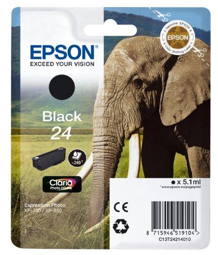Epson 24 serie Elefante Cartuccia Getto D'Inchiostro, Nero