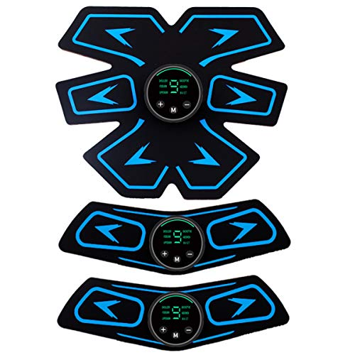 YIMUOUBA ABS Electroestimulador Abdominal, EMS Estimulador De Abdomen Muscular, Abdomen/Brazo/Pierna...