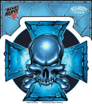 Top Heavy - Blue Cross of Iron - autocollant Sticker / Decal 5