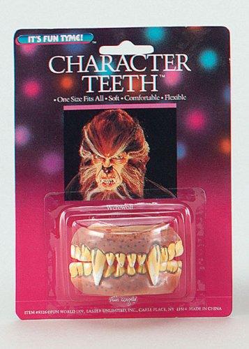 Halloween Kostüm Werwolf Zähne
