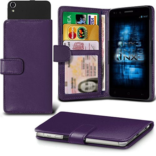 (Dark Purple) Aldi Medion Life E4503 Hülle Abdeckung Cover Case schutzhülle Tasche Verstellbarer Feder Mappe Identifikation-Kartenhalter-Kasten-Abdeckung ONX3