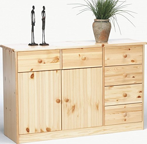 Erst-Holz 90.50-11 Kommode Anrichte Kiefer natur 6 Schubladen, 2 Türen