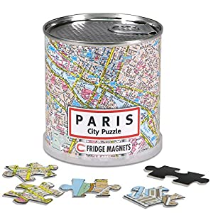 Extra Goods - Puzzle magnético París enlatado, 100 piezas, 26 x 35 cm (Mapiberia 89010)