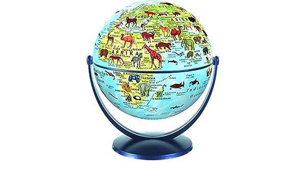 Stellanova 15cm Dreh Schwenk Globus Weltkugel Welt der Tiere Kinderglobus