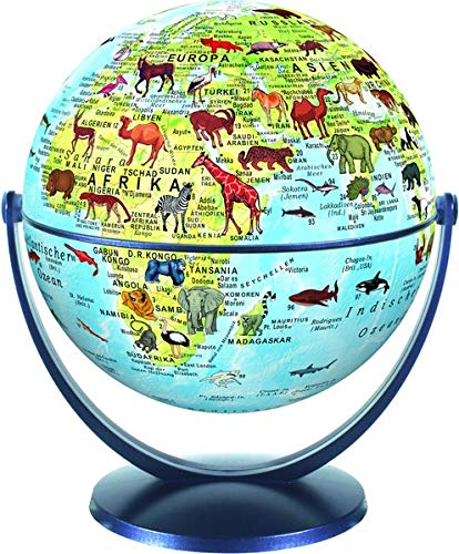 Stellanova 15 cm Dreh-Schwenk Globus Welt der Tiere Kinderglobus: Kinderglobus mit Begleitheft