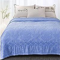 Baumwolldecke, Handtuch blau Tüll-Quilt Sommer Klimaanlage-Decke Ultra Soft Handtuch-Decke -blau 150 * 200cm(59x79inch) preisvergleich bei billige-tabletten.eu