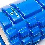 Innovative Faszienrolle / Schaumstoffrolle »Anasuya«: Massage- und Therapierolle zur Selbstmassage / hochwertige Verarbeitung & in 5 trendigen Farben(pink blau rot schwarz & lila). Die Sportrolle / Fitnessrolle ist optimal für fasziales Training des Rücken mit einer Abmessung von ca 34cm x 14cm blau -