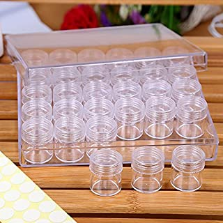 TooTaci Removable Clear Plastic Organiser Nail Art Rhinestone 30-Grid Jewelry Diamonds Earrings Beads Necklace Storage Box Display Case