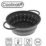 Coolinato Sieb Faltbar aus Silikon | Platzsparend, leicht zu Reinigen und Spülmaschinenfest |...